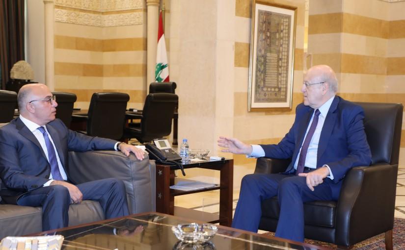 Pr Minister Najib Mikati meets Ambassador Fouad Chehab Dandan