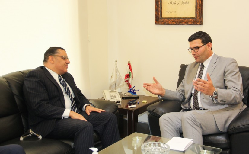 Minister Abass Hajj Hassan meets Egyptian qAmbassador
