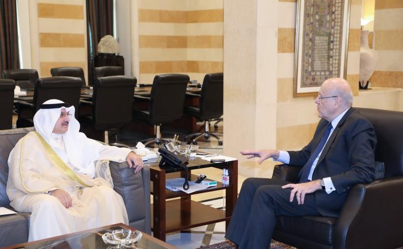 Pr Minister Najib Mikati meets Kuwait Ambassador
