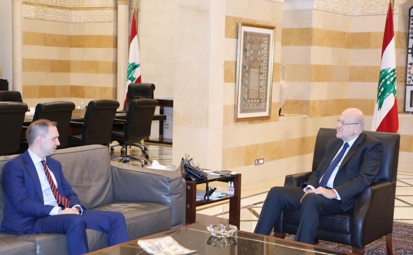 Pr Minister Najib Mikati meets British Ambassador