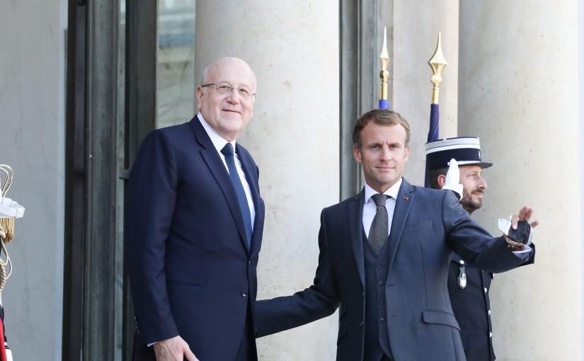 President Emanuel Macron meets Pr Minister Najib Mikati