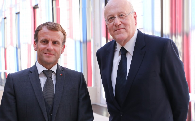 Press Conference for President Emanuel Macron & Pr Minister Najib Mikati