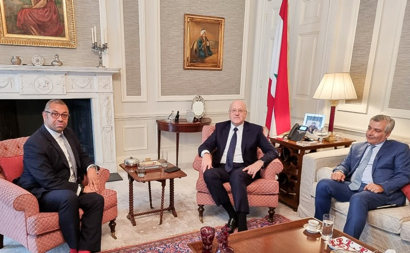 Pr Minister Najib Mikati meets Britsh Minister of State James Cleverly