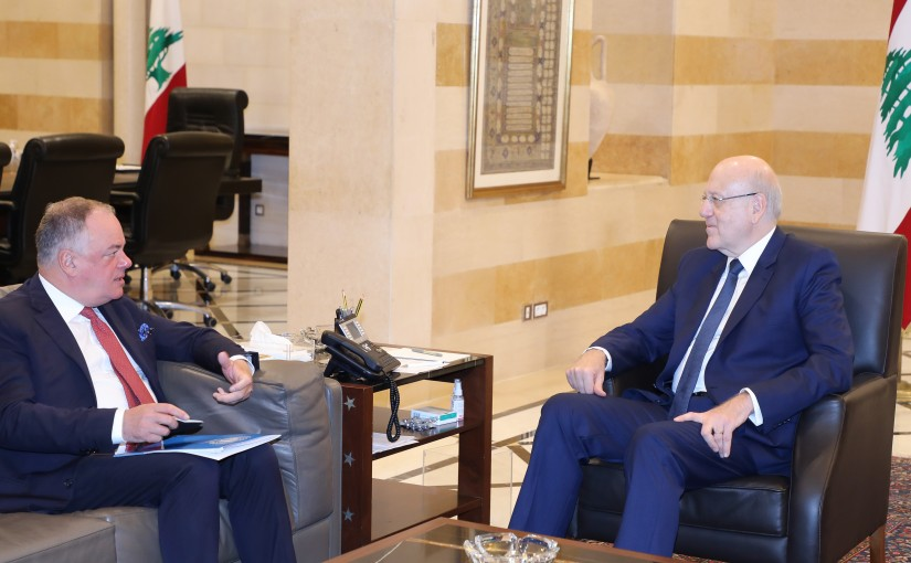Pr Minister Najib Mikati meets a Delegation from UNIFEL