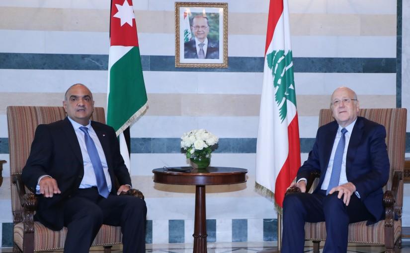 Pr Minister Najib Mikati meets Jordanian Pr Minister
