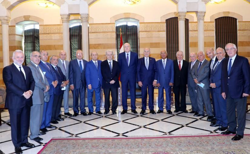 Pr Minister Najib Mikati meets a Delegation from Lebanese Busnissman