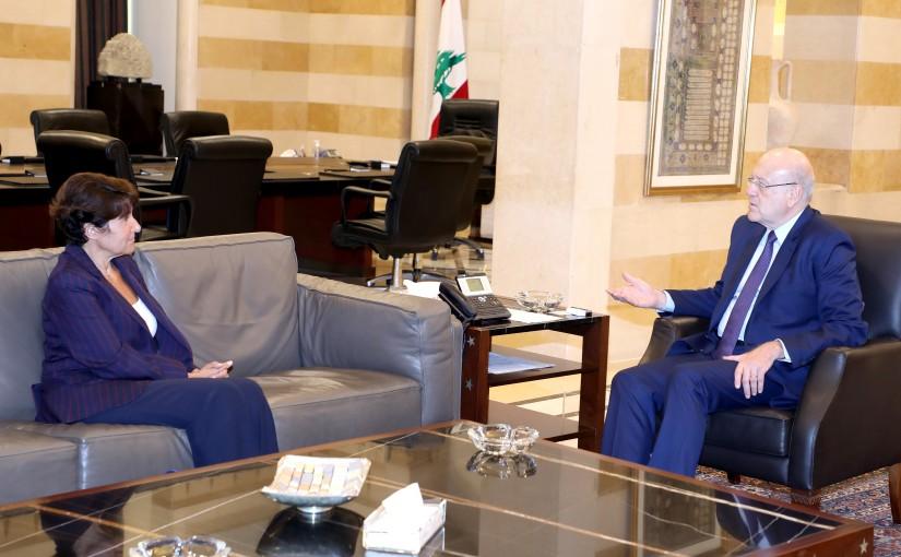 Pr Minister Najib Mikati meets French Ambassador