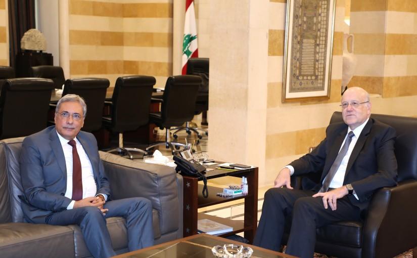 Pr Minister Najib Mikati meets Minister Henry Khoury