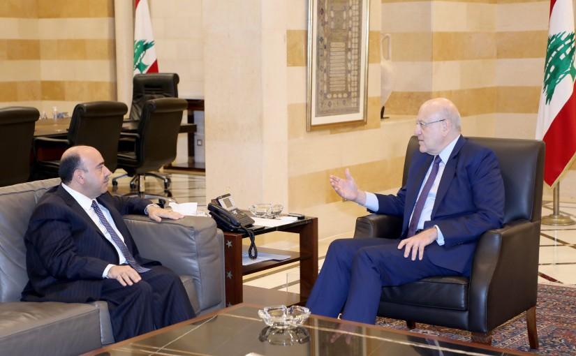 Pr Minister Najib Mikati meets Jordanian Ambassador