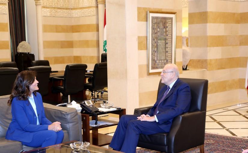 Pr Minister Najib Mikati meets US Ambassador