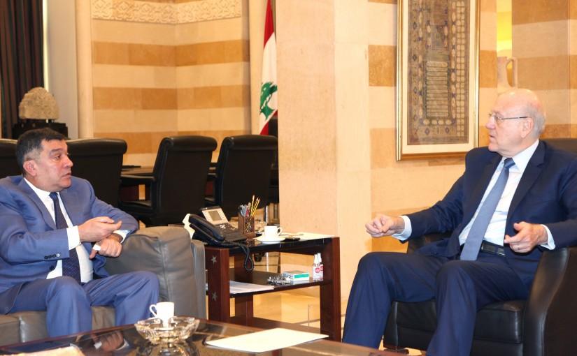 Pr Minister Najib Mikati meets Mr Mouhamad hout