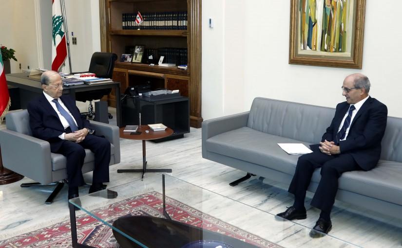 President Michel Aoun meets Minister George Kallas