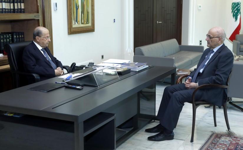 President Michel Aoun meets Mr Nasri Khoury