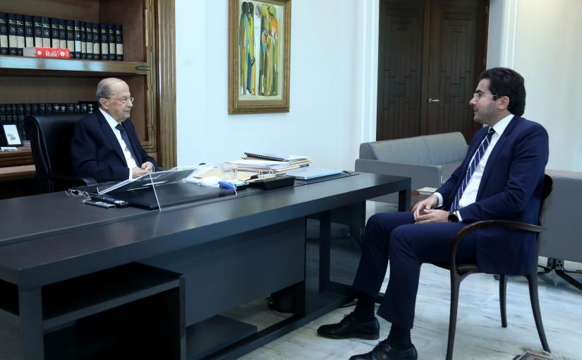 President Michel Aoun meets MP Selim Khoury
