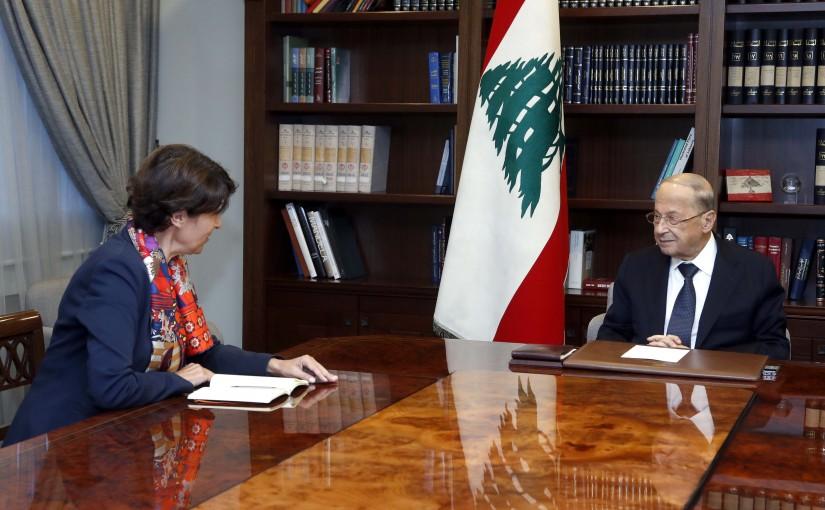 President Michel Aoun meets Amb. Anne Grillo.