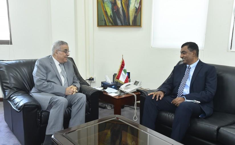 Minister Abdullah Abi Habib meets Pakistan Ambassador