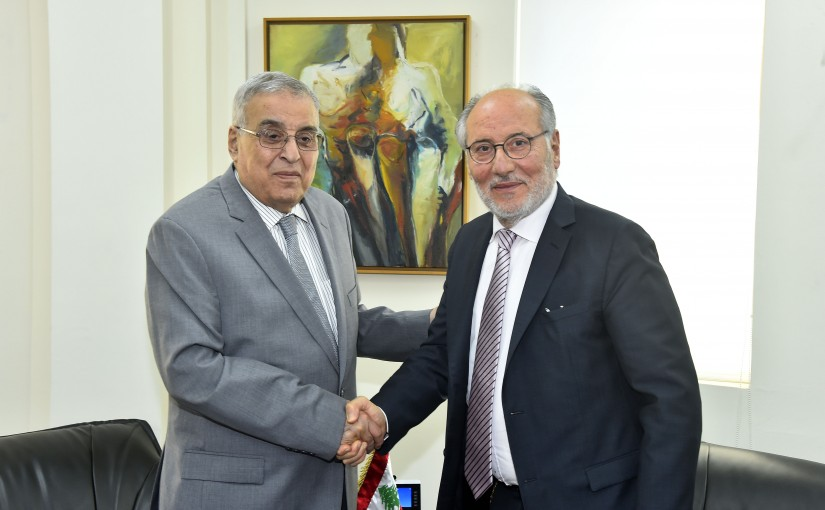 Minister Abdullah Abi Habib meets Minister Abass Mourtada with a Delegation
