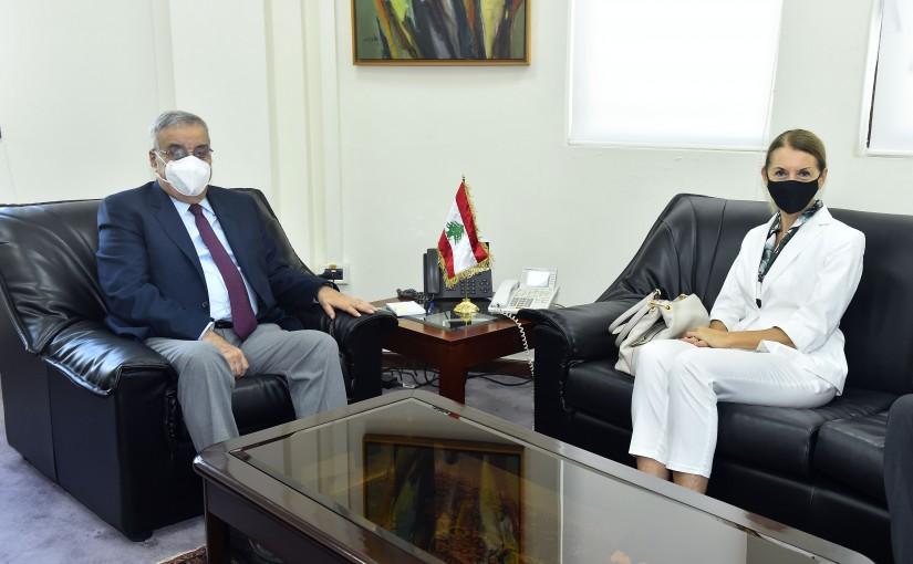 Minister Abdullah Abi Habib meets Italian Ambassador