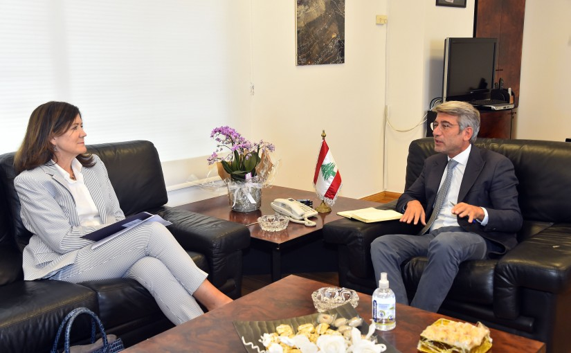 Minister Walid Fayad meets US Ambassador