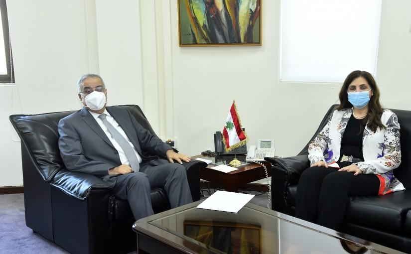 Minister Abdullah Abi Habib meets Roula Dashti
