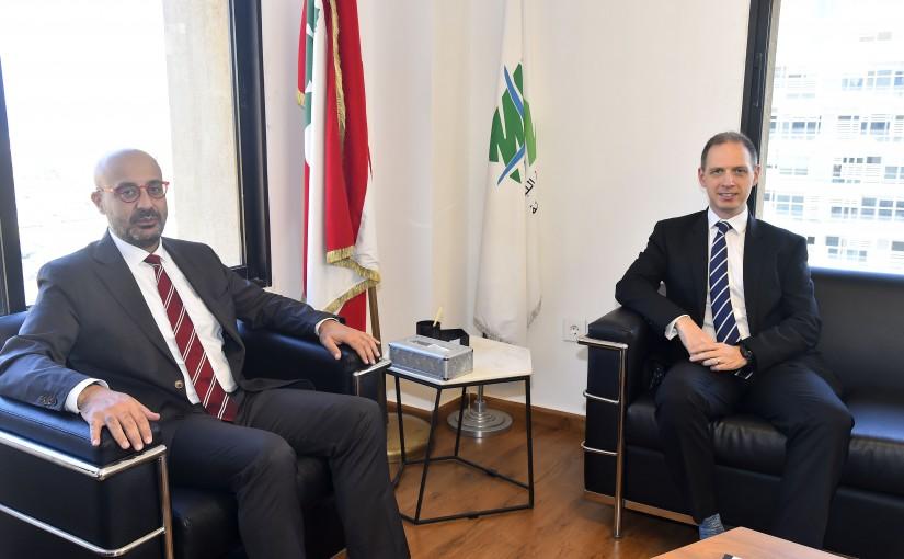 Minister Nasser Yassine meets British Ambassador