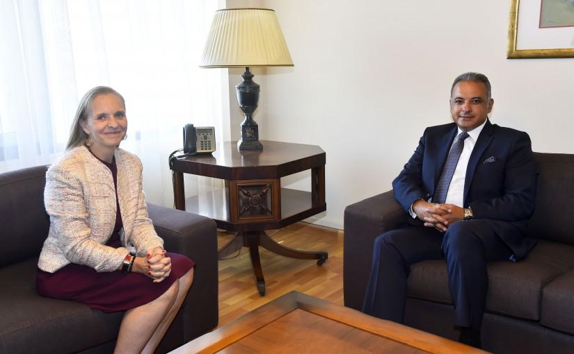 Minister Mouhamad Mourtada meets Canadian Ambassador