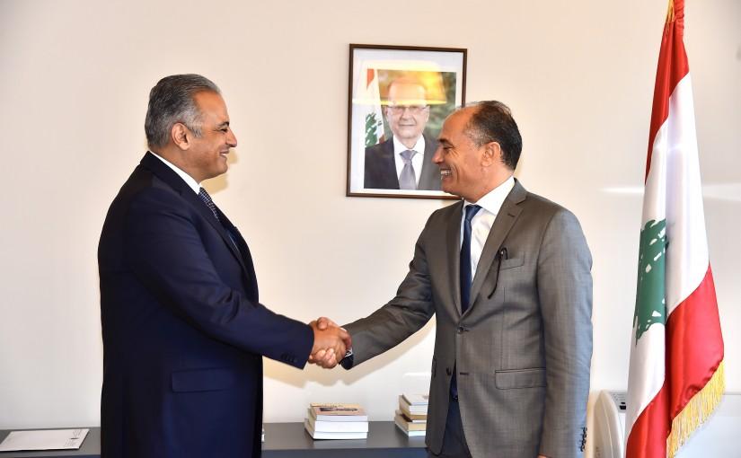 Minister Mouhamad Mourtada meets Tunisian Ambassador