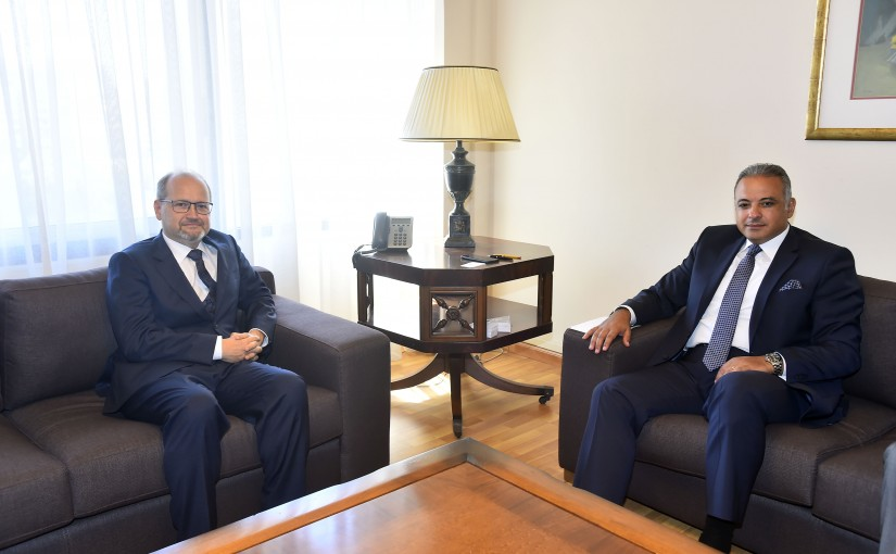 Minister Mouhamad Mourtada meets Austria Ambassador
