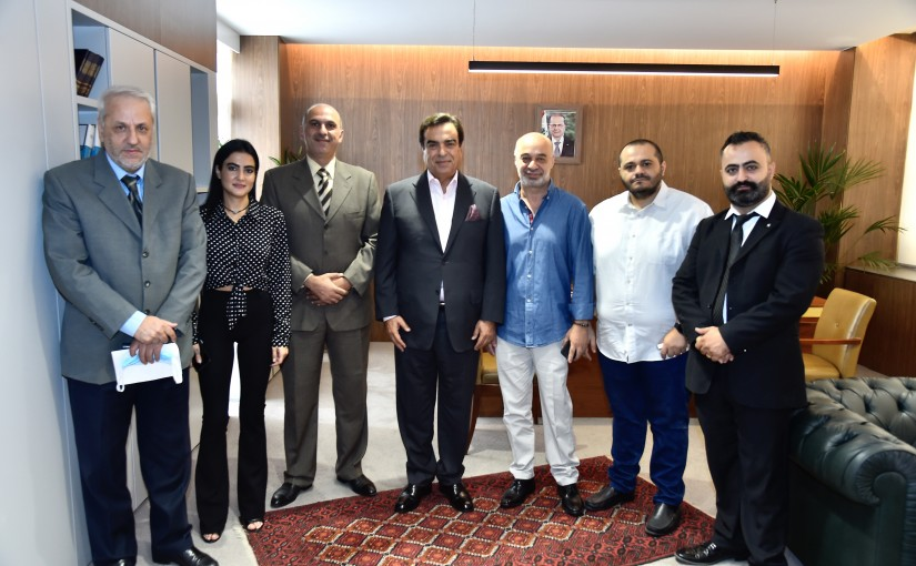 Minister George Kordahi meets a Delegation from Lebanese Press