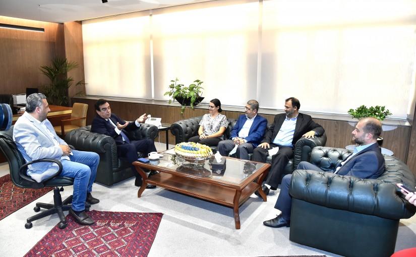 Minister George Kordahi meets Mrs Randala Jabour