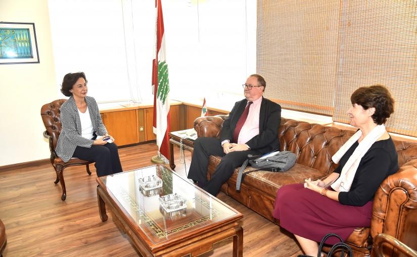 Minister Najla Riachi meets Mr Pierre Dusquenne