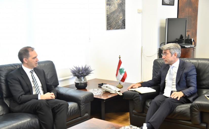 Minister Walid Fayad meets British Ambassador