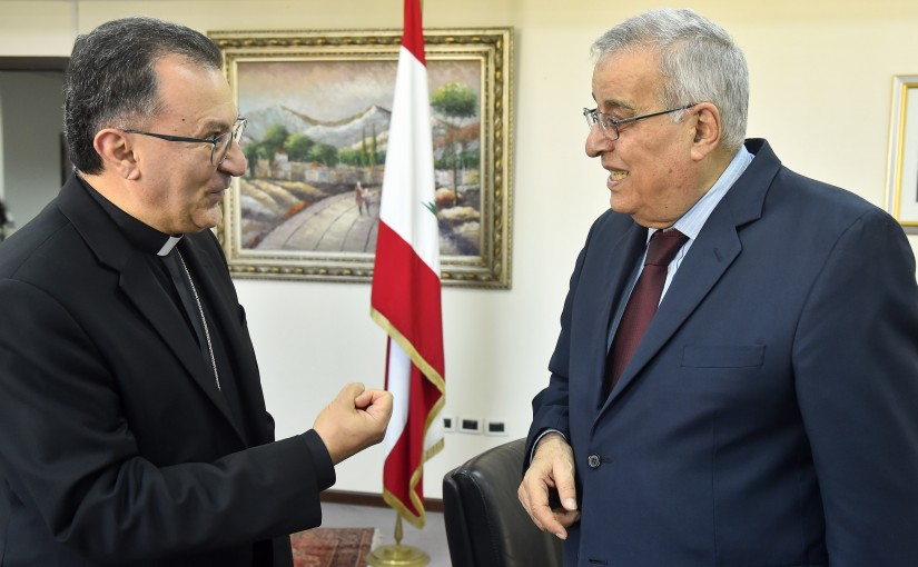 Minister Abdullah Abi Habib meets Vatican Ambassador