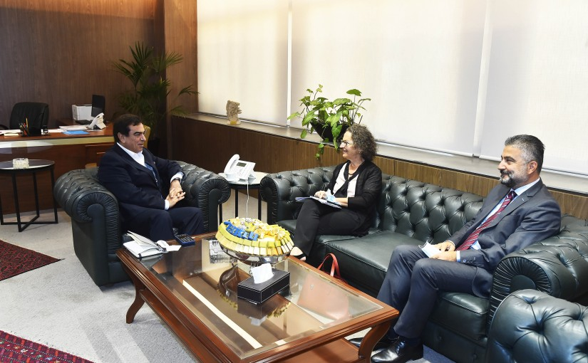 Minister George Kordahi meets a Delegation from UNESCO