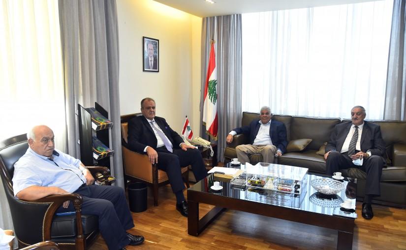 Minister George Boukachian meets Mr Youssef Mehet el Dine with a Delegation