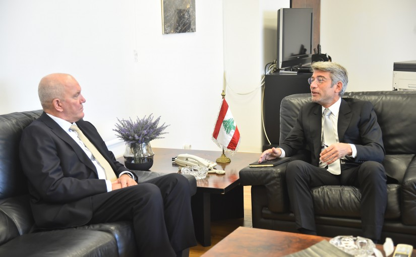 Minister Walid Fayad meets Denmark Ambassador