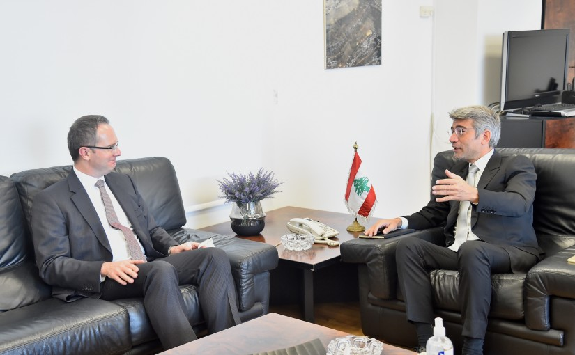 Minister Walid Fayad meets Turkish Ambassador