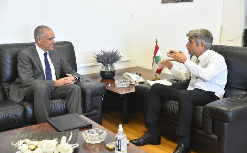 Minister Walid Fayad meets European Ambassador