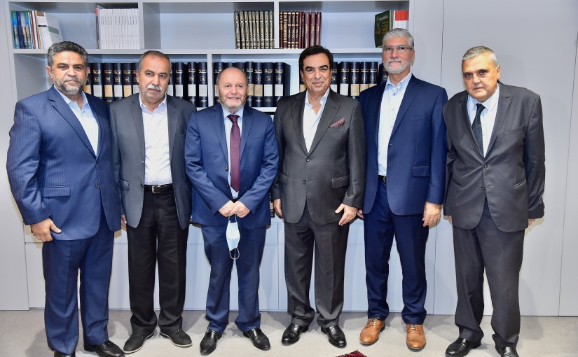 Minister George Kordahi meets a Delegation from Labour Syndicate
