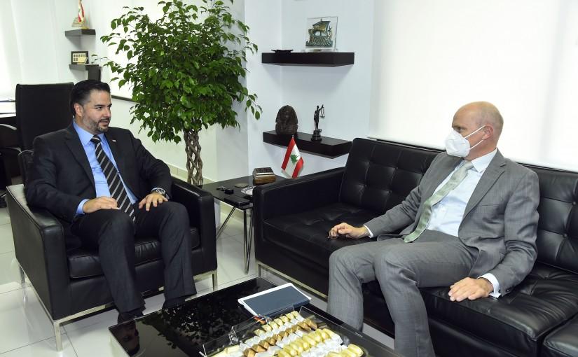 Minister Amine Salam meets German Ambassador