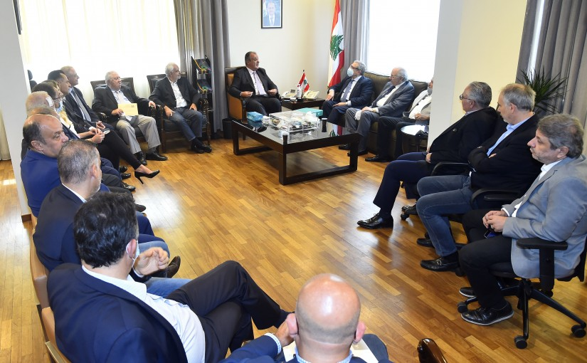Minister George Boukachian meets a Delegation from Industrial Association
