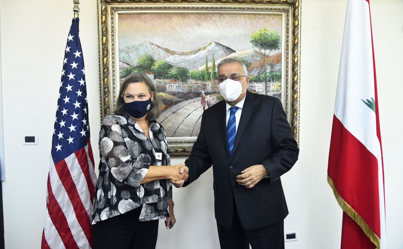 Minister Abdullah Abi Habib meets  US Deputy Secretary of State for Political Affairs Victoria Nuland with a delegation.