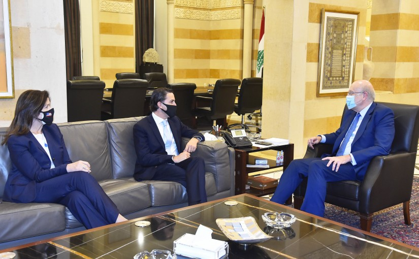 Pr Minister Najib Mikati meets a US Delegation