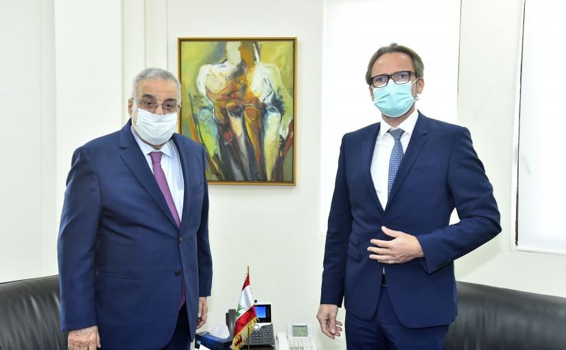 Minister Abdullah Abi Habib meets Poland Ambassador