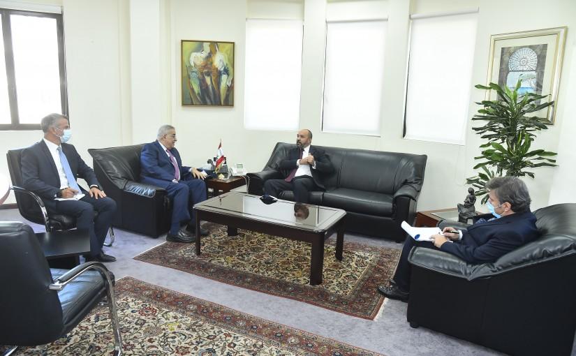 Minister Abdullah Abi Habib meets Cuba Ambassador