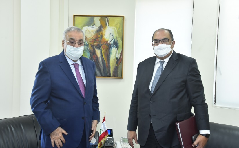 Minister Abdullah Abi Habib meets a Delegation from World Bank