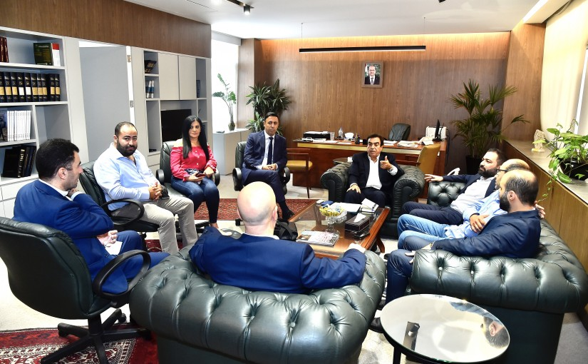 Minister George Kordahi meets a Delegation From Lebanese Press Club