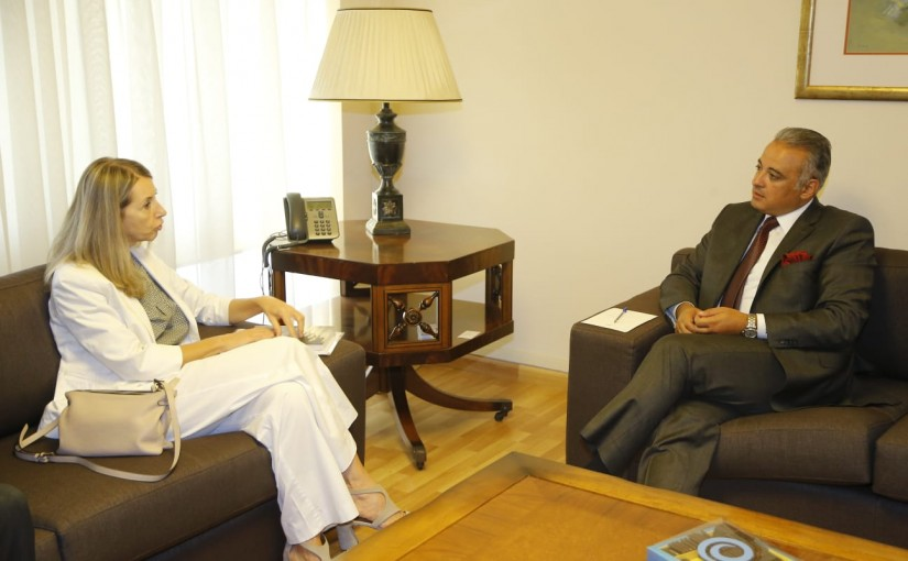 Minister Mouhamad Mourtada meets Italian Ambassador