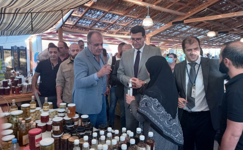 A tour for the Ministers of Industry and Agriculture in the northern Bekaa on agricultural cooperatives and the village of Al-Mouna in Baalbek