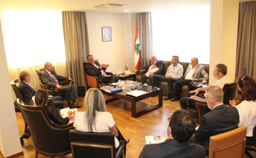 Minister George Boukachian meets Mr Dani Jedaoun with a Delegation